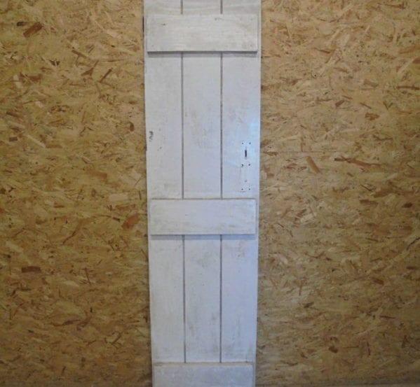 White Painted Braced Narrow Door