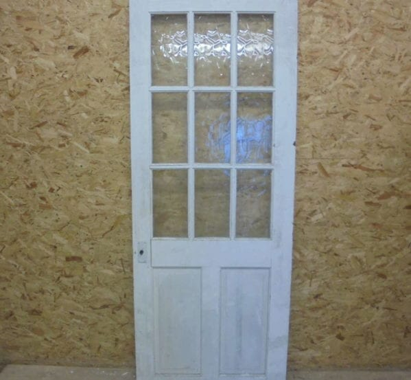 11 Panelled Half Glazed White Door