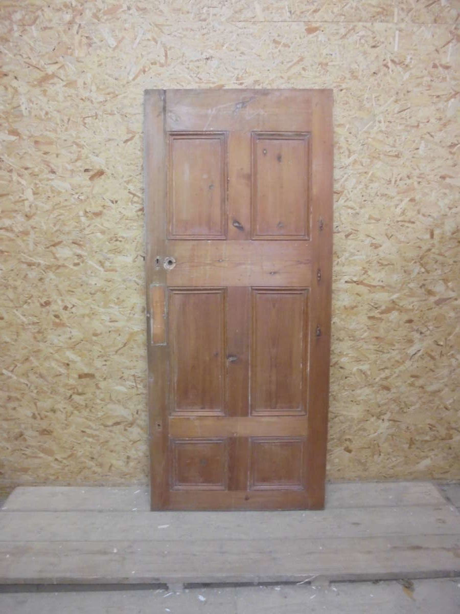 Half Painted Large 6 Panelled Door