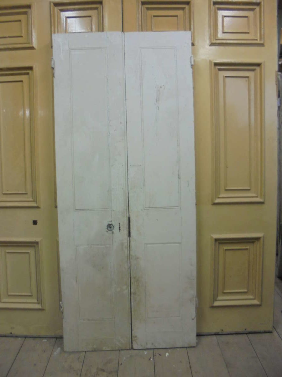 White 2 Panelled Double DOors