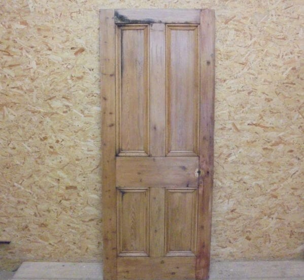 Solid Oak Stripped 4 Panelled Door