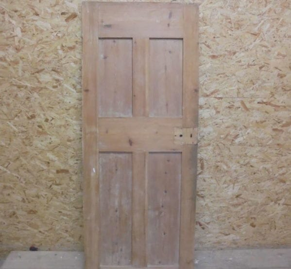 4 Panelled Smooth Finish Stripped Door