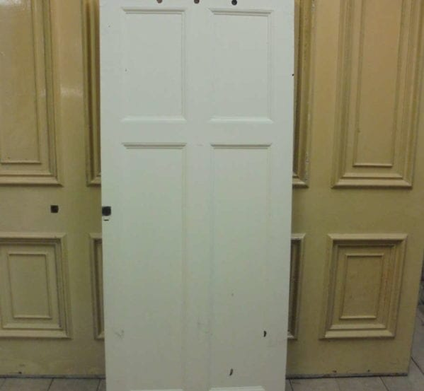 White Painted 4 Panelled Door with Ventilation Holes