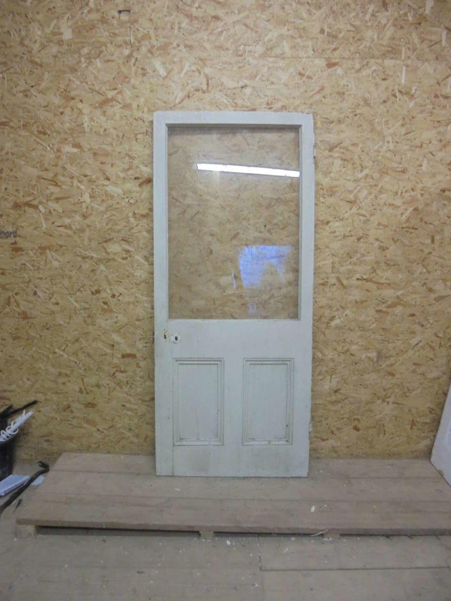 Large Painted Half Glazed Door