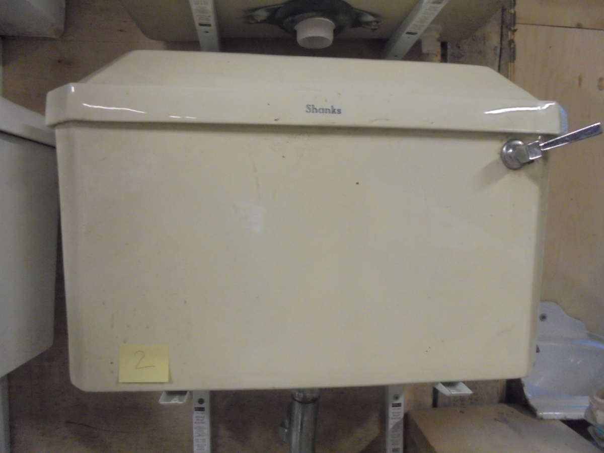 Shanks Yellow Cistern and Toilet Set