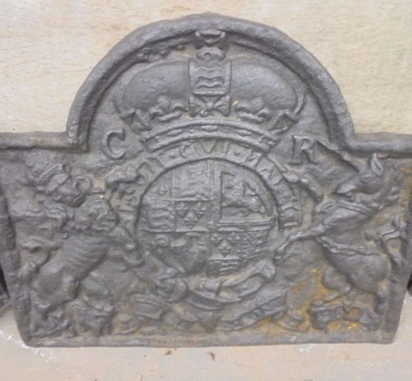 Coat of Arms Cast Iron Fire Back
