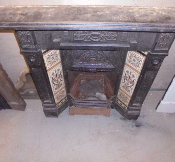 Black Decorative Reclaimed Fire Surround