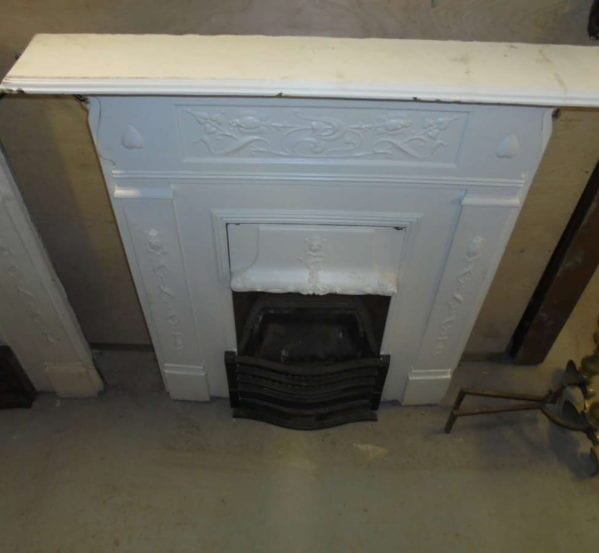 White Painted Metal Fire Surround