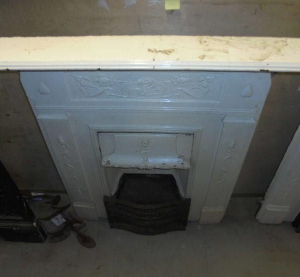 Metal Reclaimed Fire Surround Painted White