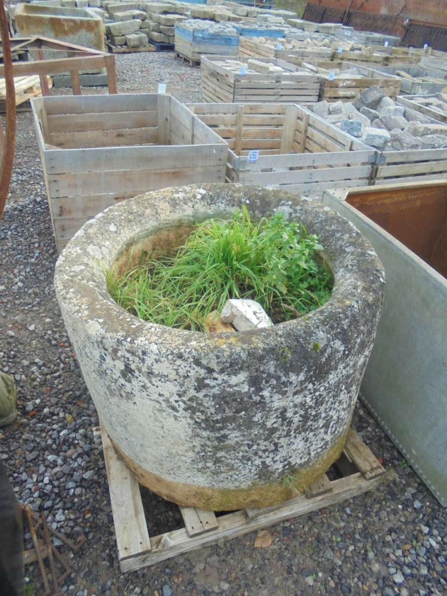 Large Round Stone Trough