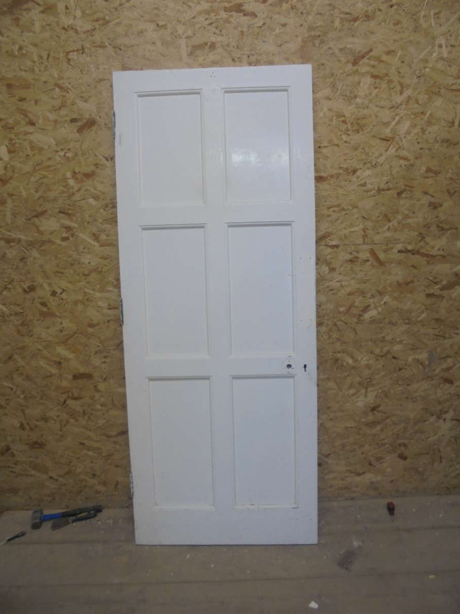 Beautiful 6 Panelled White Painted Door