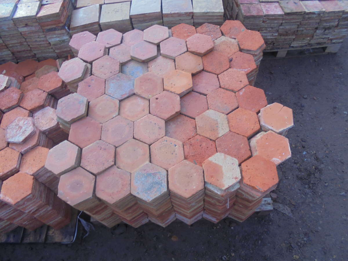 Medium Hexagonal French Floor Tiles