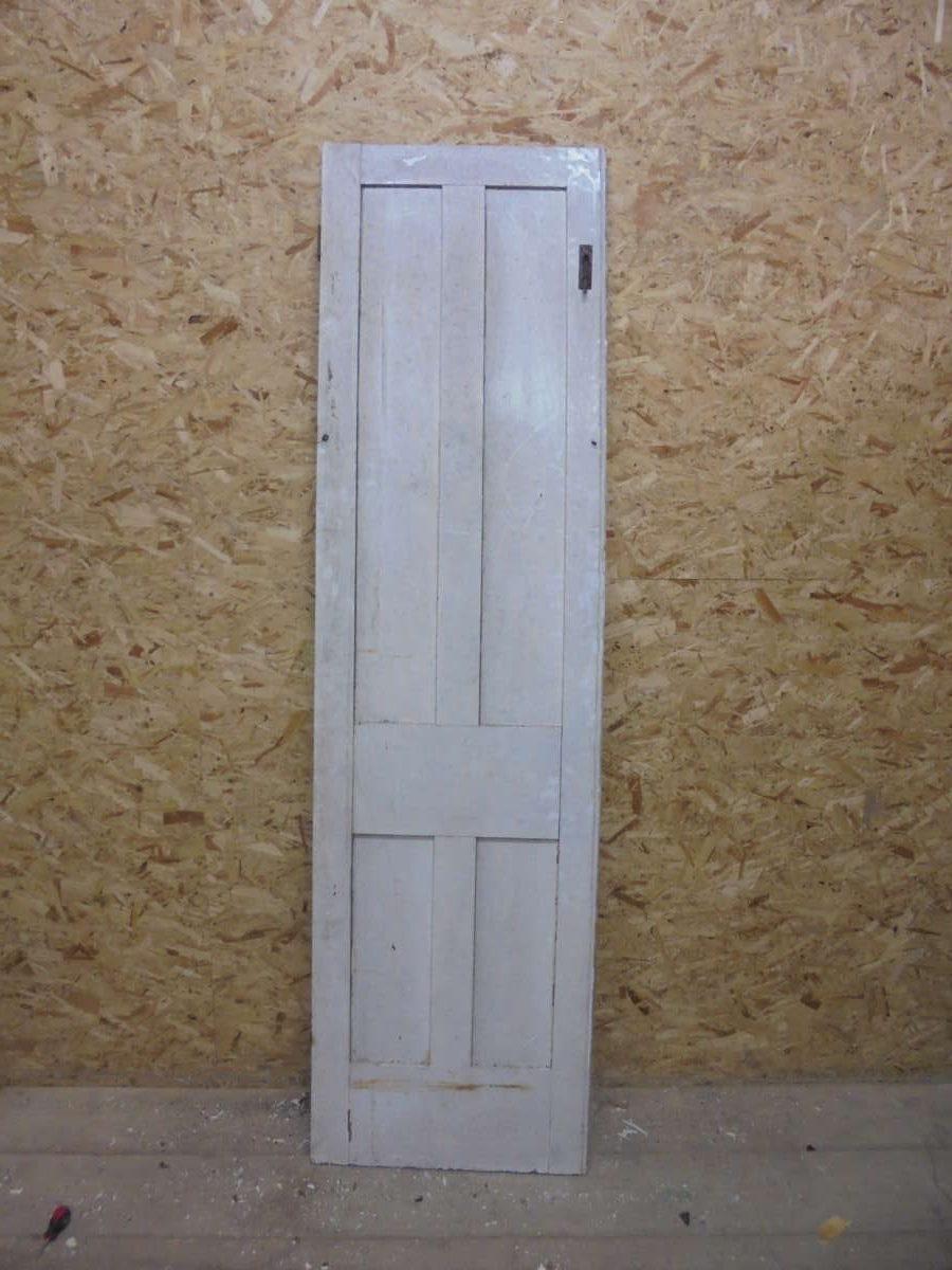 Thin Painted White 4 Panel Door