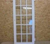 Fully Glazed 15 Panel White Painted Door