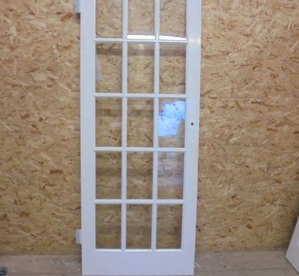 Fully Glazed 15 Panel White Painted Door