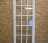 15 Panelled Fully Glazed White Painted Door