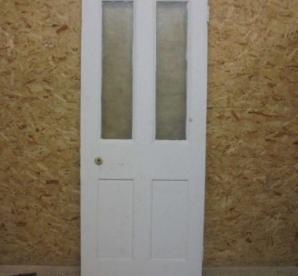 Half Glazed 4 Panel White Painted Door