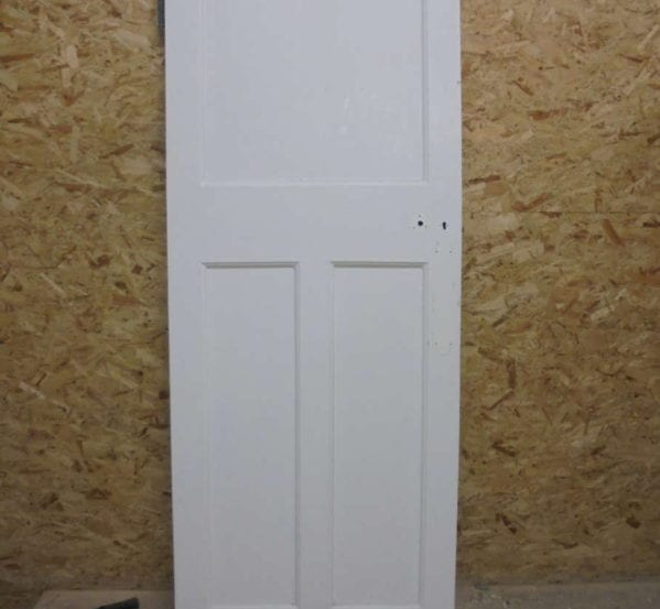 Lovely White Painted 3 Panelled Door