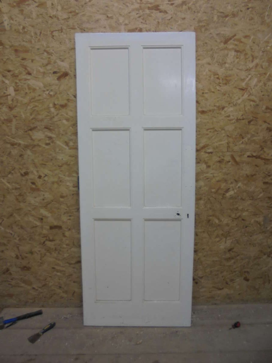 Attractive 6 Panelled White Painted Door