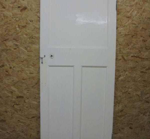White Painted 1 over 2 Panelled Door