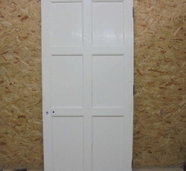 Lovely 6 Panel White Painted Door