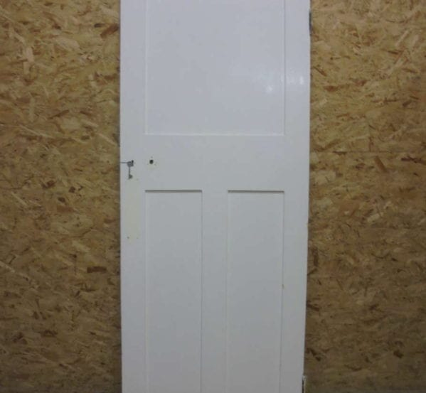 Plain White 1 over 2 Panel Door