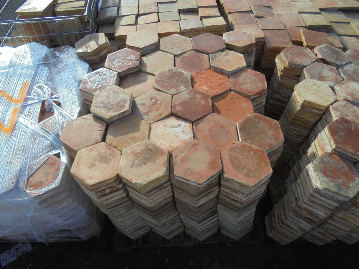 Large Hexagonal French Floor Tiles