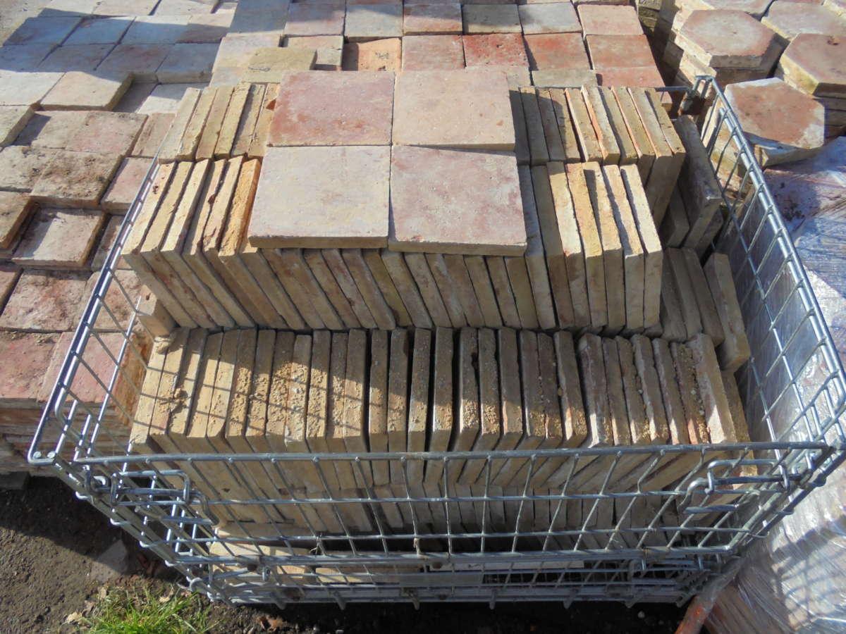 French Terracotta Square Floor Tiles