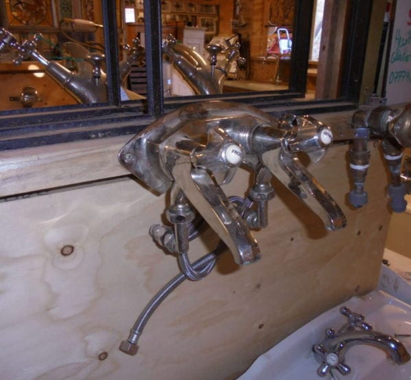 Reclaimed French Mixer Taps