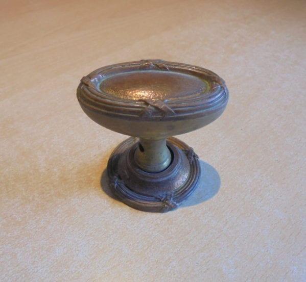 Cross Detail Brass Door Knob