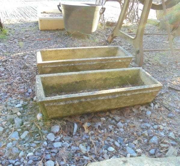 Small Rectangular Stone Planters