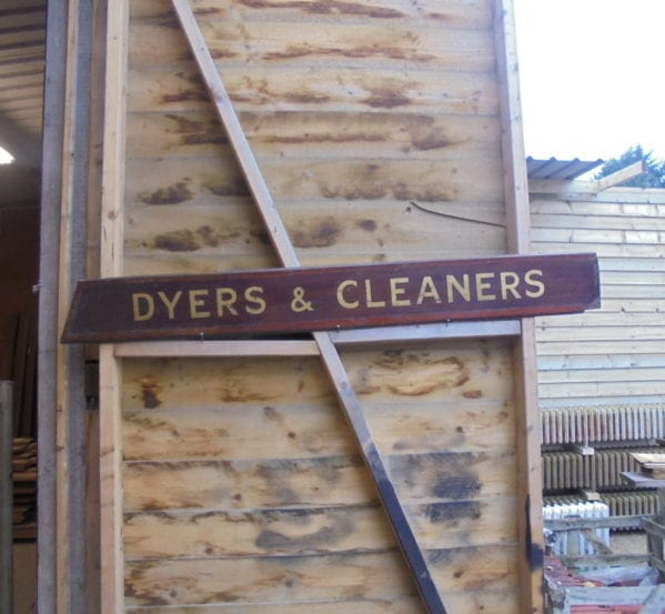 Dyers and Cleaners Sign