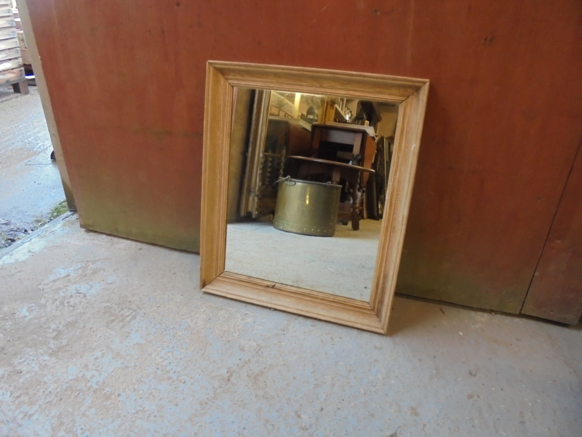 Small Wooden Hanging Mirror