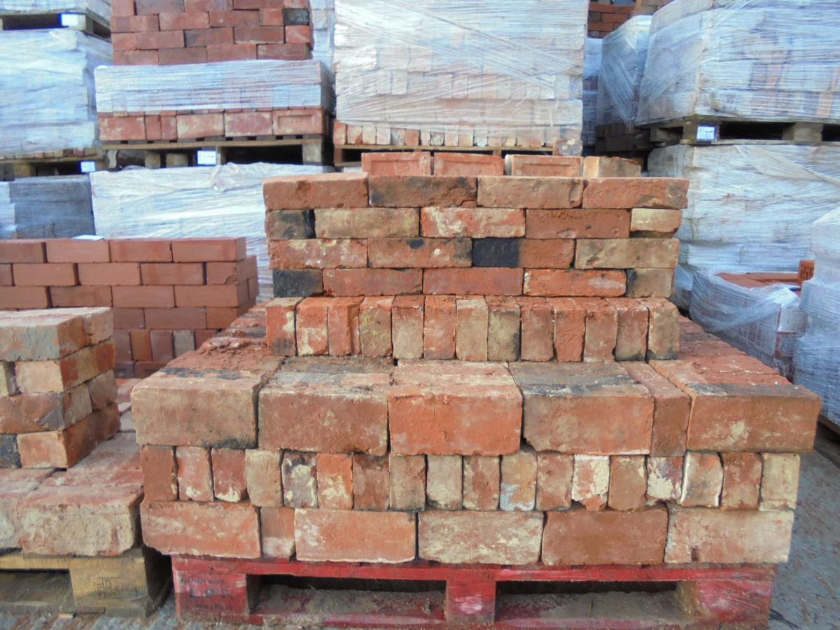 Reclaimed Handmade Soft Orange Bricks
