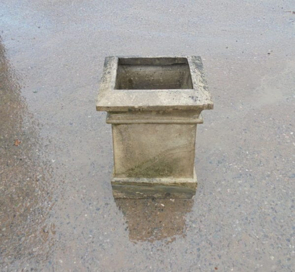 Rectangular Base Buff Chimney Pot Planter