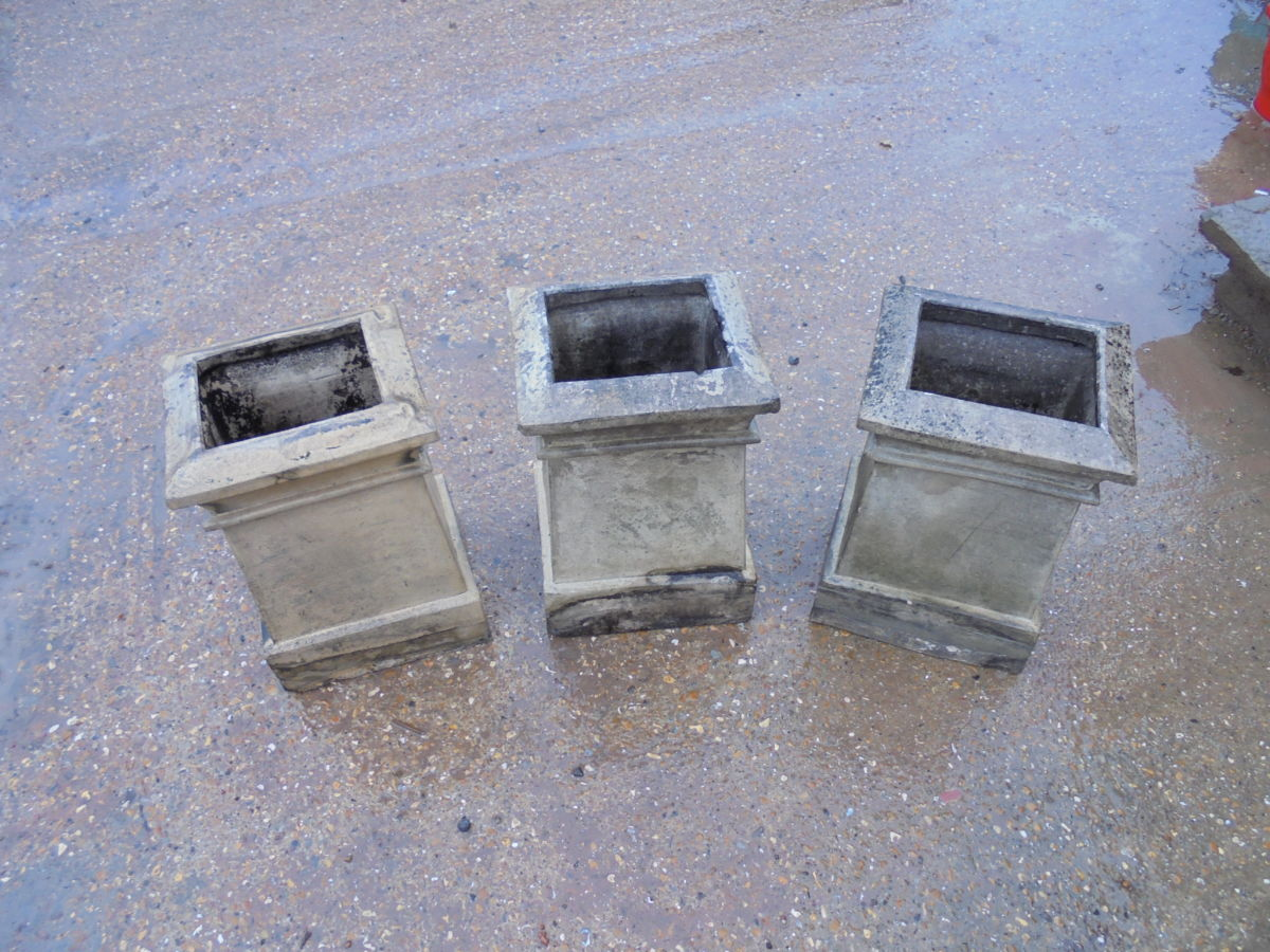 Rectangular Base Buff Chimney Pot