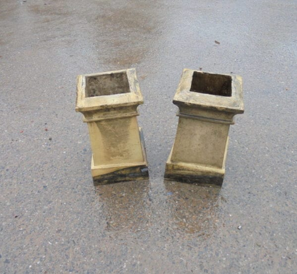 Square Base Buff Chimney Pots