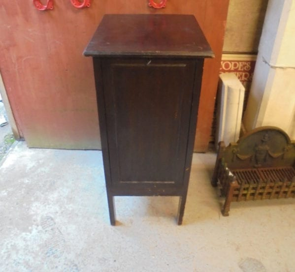 Dark Wood Record Cabinet