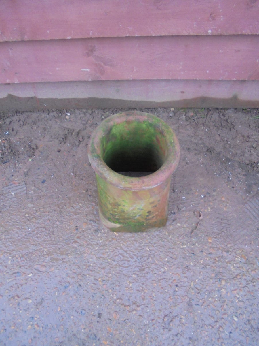 Small Square to Round Chimney Pot