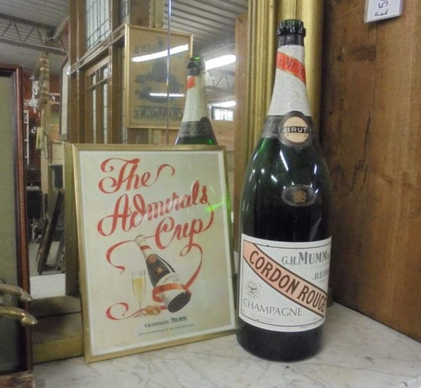 G.H.Mumm Double Magnum Bottle and Picture