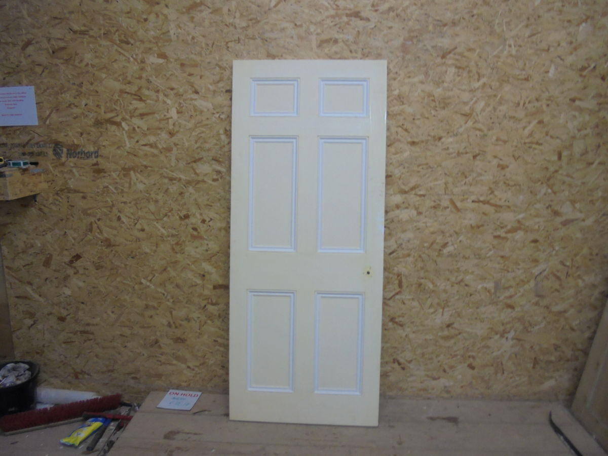 White Nice Painted 6 Panelled Door