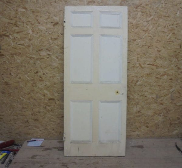 Six Panelled Painted Door