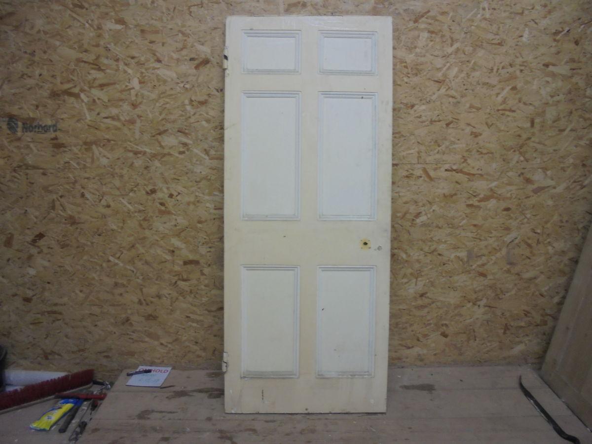 Six Panelled Painted Door