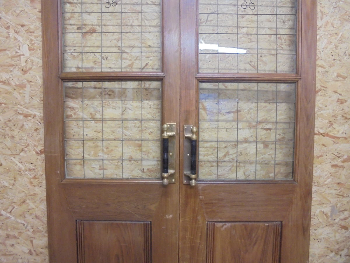 Solid Oak Half Glazed Double Doors