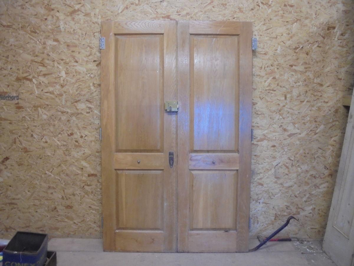 Grand Oak Two Panelled Double Doors
