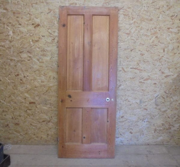 4 Panelled Stripped Smooth Door