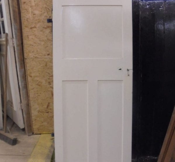 Attractive White Painted 1 over 2 Panel Door