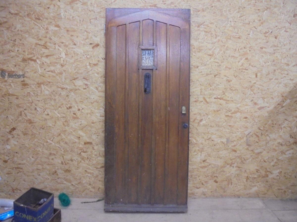 Large Oak Fancy Front Door