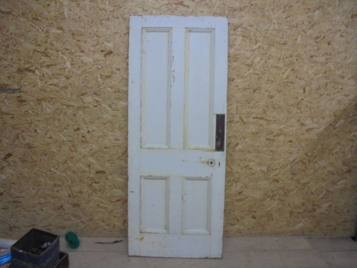 Thick White 4 Panelled Door
