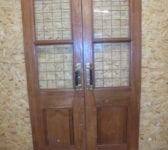 Half Glazed Large Oak Double Doors